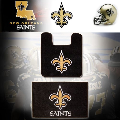 Nfl new orleans saints logo bathroom soft floor carpet for New bathroom accessories
