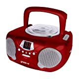 Groov-e GVPS713RD Boombox Portable CD Player with Radio - Redby Groov-e