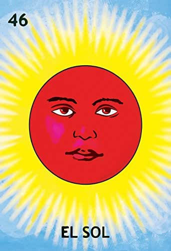 Amazoncom Loteria El Sol Mexican Retro Illustration Art Print