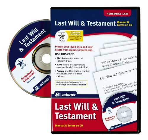 Adams Prepare A Last Will and Testament Software,
