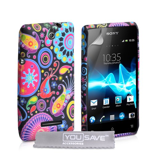 yousave-accessories-coque-sony-xperia-e-etui-couleur-multi-silicone-gel-meduse-housse
