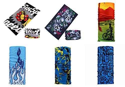Datechip multiuso 12-in-1-Fascia per capelli, sciarpa, Bandana, foulard, da [] Polsini Paisley, passamontagna, Bandana, scaldacollo, Casco da 100% microfibra