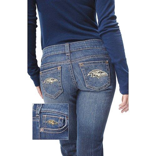 Touch By Alyssa Milano Baltimore Ravens Women's Denim Jeans