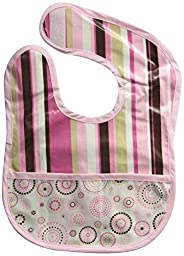 Caden Lane Boutique Collection Coated Bib, Rose Dot