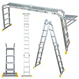 Abbey Aluminium Multi-Purpose Ladder 4.7m With New Safety Platform