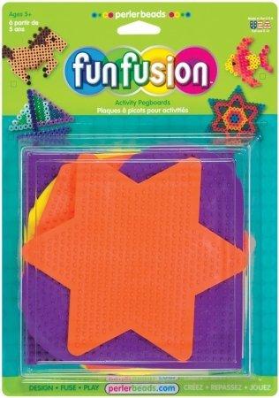 Perler 22616 Perler Fun Fusion Bead Pegboards 5/Pkg