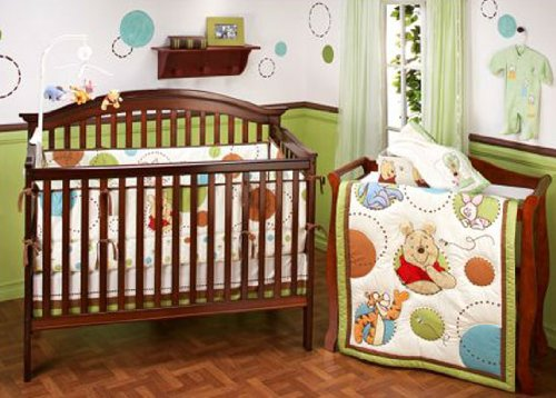 My Friend Pooh 4 Piece Crib Bedding Set: Winnie The Pooh Baby Bedding Collections