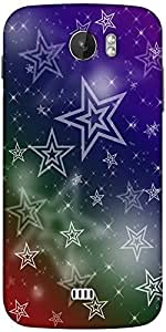 Snoogg White Stars 2378 Designer Protective Back Case Cover For Micromax A110
