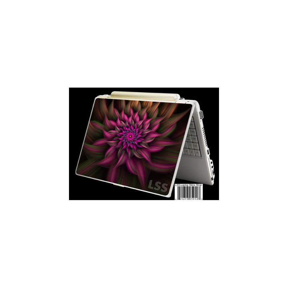 Laptop Skin Shop Laptop Notebook Skin Sticker Cover Art Decal Fits 13.3 14 15.6 16 HP Dell Lenovo Asus Compaq (Free 2 Wrist Pad Included) Purple Floral Flower