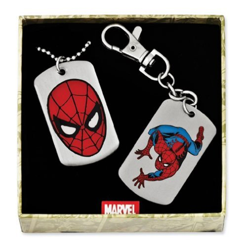 The Amazing Spiderman Dog Tag And Key Ring Box Set