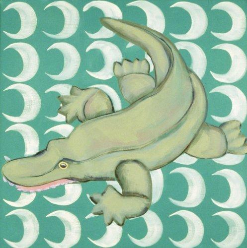 "Ally the Alligator - 18"" X 18"" Canvas Wall Art"