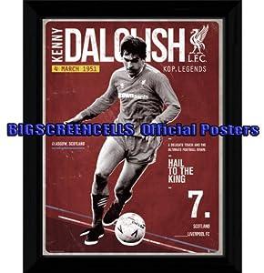Framed - Kenny Dalglish - Liverpool - 16 X 12 Inches by Bigscreencells