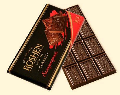 Roshen - Extra Dark Chocolate Classic 56% (pack of 4) (Roshen Chocolate Bar compare prices)
