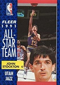 John Stockton Basketball Card (Utah Jazz) 1991 Fleer #217 by Hall of Fame Memorabilia