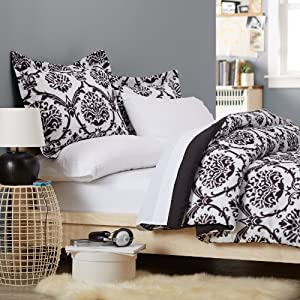 Pinzon Bed In A Bag - Twin, Black & White Ikat