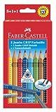 Faber Castell 280921 - Jumbo Grip Farbstifte 8er mit Bleistift und Namensfeldstift von Iden