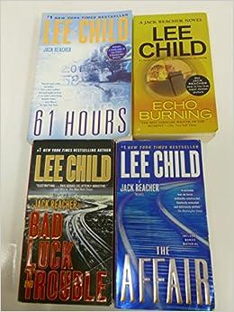 4 Books Lee Child Jack Reacher Novel Series Set Echo