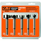 CMT 537.000.05   5-Piece Forstner Bit set,  15-20-25-30-35mm Diameters, 8-10mm Shank