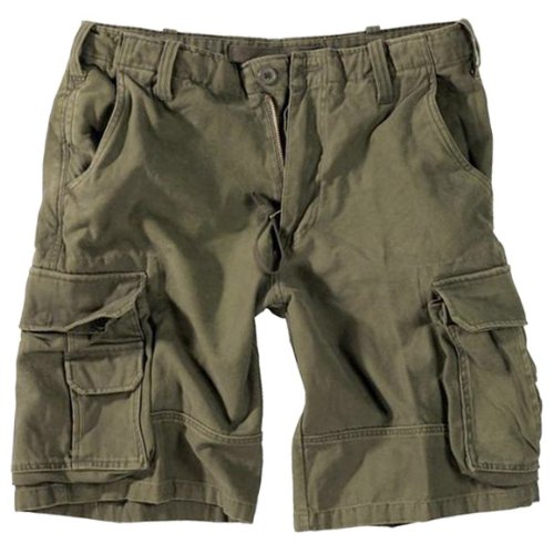 Aviator Army Prewashed Cargo Combat Work Mens Heavy Duty Shorts Olive Green