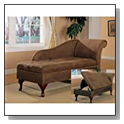 Microfiber Chaise Lounge with Storage