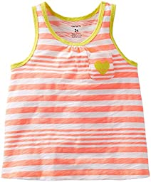 Carter\'s Striped Tank (Baby) - Orange-9 Months