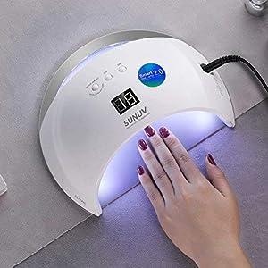SUNUV SUN6 36W UV Nail Lamp Led Nail Dryer for Gels Nail Polish with Sensor (White) (Color: 1-White)