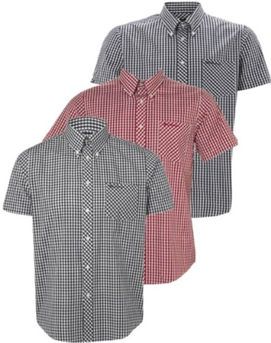 Ben Sherman Shirt WiltShire Short Sleeve Gingham Check [XX-Large]