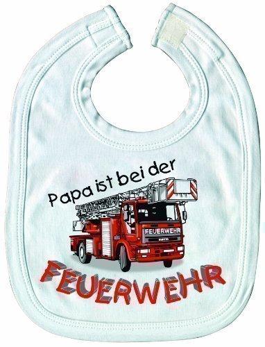 Ltzchen-Sabbertuch-Schlabberlatz-Baby-Ltzchen-mit-Druckmotiv-Papa-ist-bei-der-Feuerwehr-NEU-07083-wei