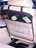 Rückenlehnenschutz Sitzschoner Hecksitzschoner Lehnenschutz mit 3 Taschen