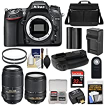 Nikon D7100 Digital SLR Camera with 18-140mm & 55-300mm VR Lenses, WU-1a, Bag & 32GB Card + Battery/Charger + Grip + Filters + Remote + Kit