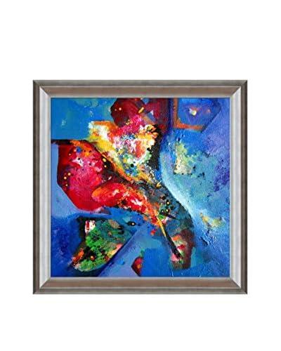 Sanjay Punekar Floral Painting Framed Canvas Print