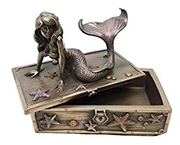ATL Mermaid Resting On Treasure Chest Decorative Box