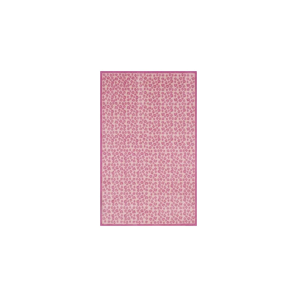 New Kids Area Rug Girls Pink 5x7 Animal Leopard Print
