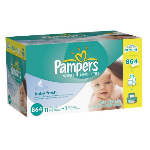 Pampers Softcare Baby Fresh Wipes 12x Box With Tub 864 Count (Packaging May Vary)