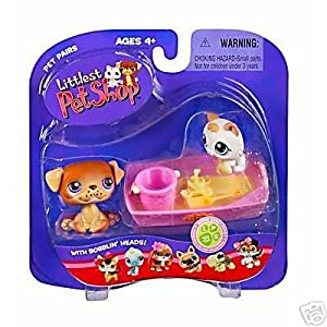 hasbro littlest pet shop chien et b b chat au bac sable 133 134 jeux et jouets. Black Bedroom Furniture Sets. Home Design Ideas