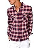 ジョーカーセレクト(JOKER Select) ネルシャツ メンズ 長袖 シャツ 長袖シャツ チェックシャツ カジュアル フランネル チェックシャツ レディース M E柄(35)