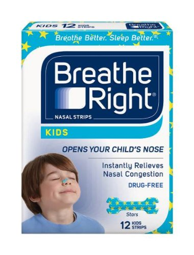 Breathe Right Nasal Strips For Kids, 12-Count