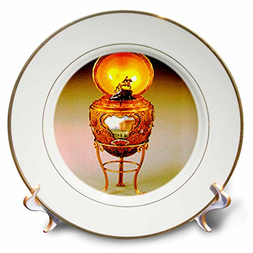 3dRose cp_590_1 Picture Faberge Egg Peter The Great Porcelain Plate, 8-Inch