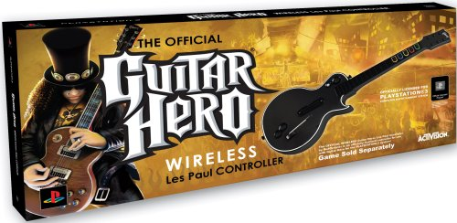 ps3 guitar hero les paul wireless guitar recomended products. Black Bedroom Furniture Sets. Home Design Ideas