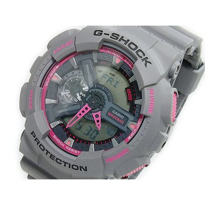 Gee and shock G-shock Casio CASIO G shock g-shock an analog-digital GA-110TS-8A4 light grey / pink [parallel import goods]