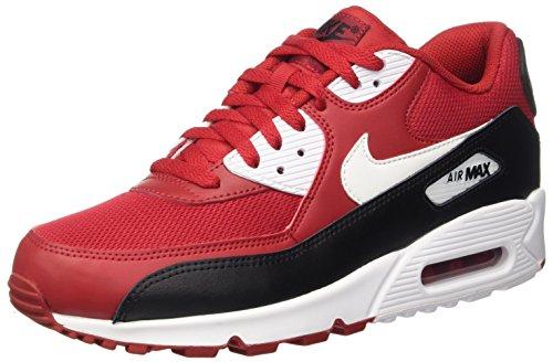 Nike Air Max 90 Essential, Scarpe da Ginnastica Basse Uomo, Rosso (Gym Red/White-Black-White), 41 EU