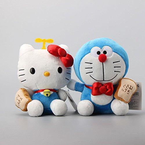 Doraemon-Hello-Kitty-8-Inch-Toddler-Animal-Stuffed-Plush-Kids-Toys-2-Pcsset