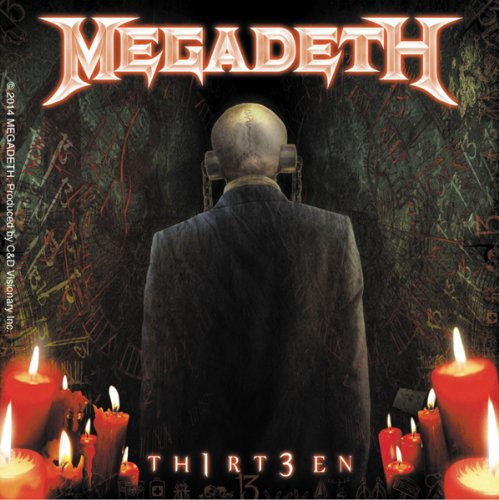 Licenses Products Megadeth 13 Candles Sticker - 1