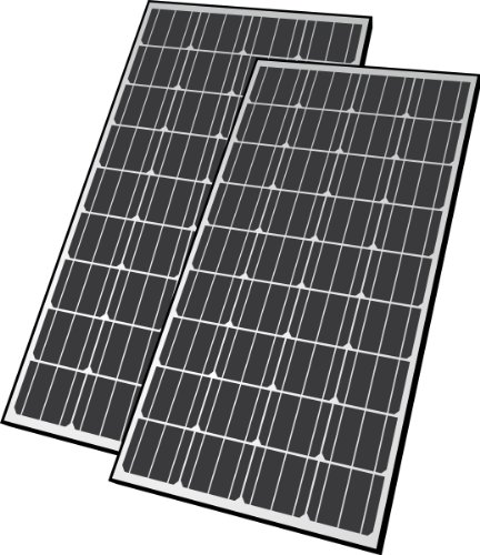 Nature Power 50262 280-Watt Monocrystalline Solar Powered 12-Volt Battery Charger Set Includes 2 140-Watt Panels