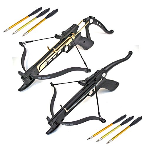 Ace Martial Arts Supply Self Cocking Draw Crossbow Pistol Set, 80-Pound