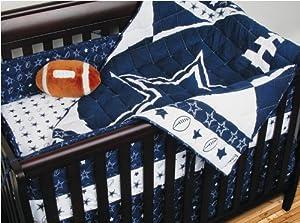 NFL Dallas Cowboys 4pc Football Crib Bedding Set by NFL