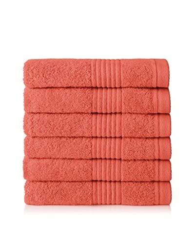 Chortex Set of 6 Ultimate Hand Towels, Rosa
