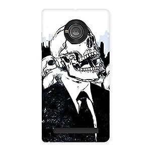 Dead Skulls Back Case Cover for Yu Yuphoria