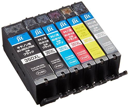 ジット Canon(キヤノン) BCI-351XL+350XL/6MP(大容量) 6色セット対応 リサイクル インクカートリッジ JIT-NC3503516PXL(FFP・封筒パッケージ)