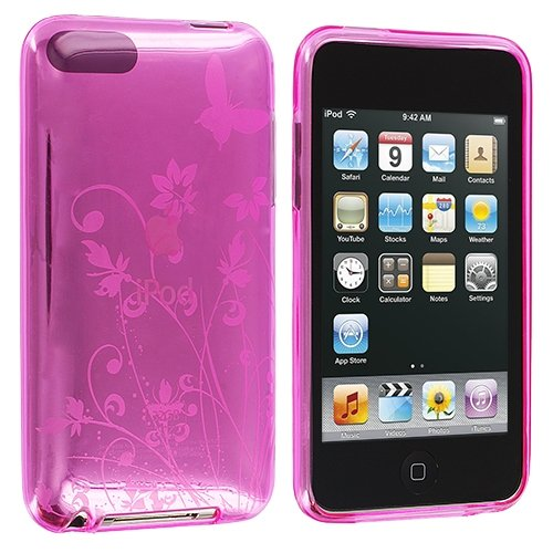 Hot Pink Flower TPU Rubber Case